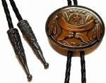 24ct Gold Plated Hat, Boots and Feathers Bolo Tie. Code BTWW13G